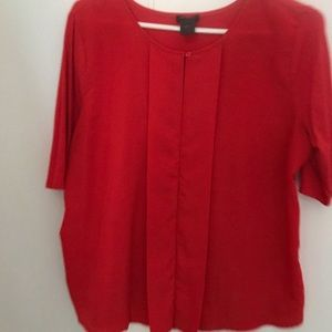 Ann Taylor size Large red top